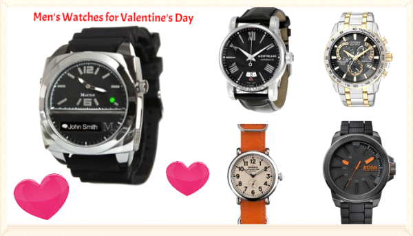 Happy Valentine's Day 2015 Gift for Him (Boyfriend-Husband) - Watches