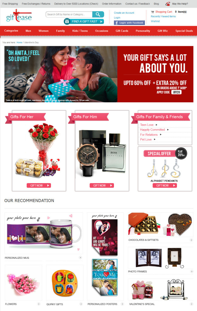 Plan your Valentines day with Giftease _2015