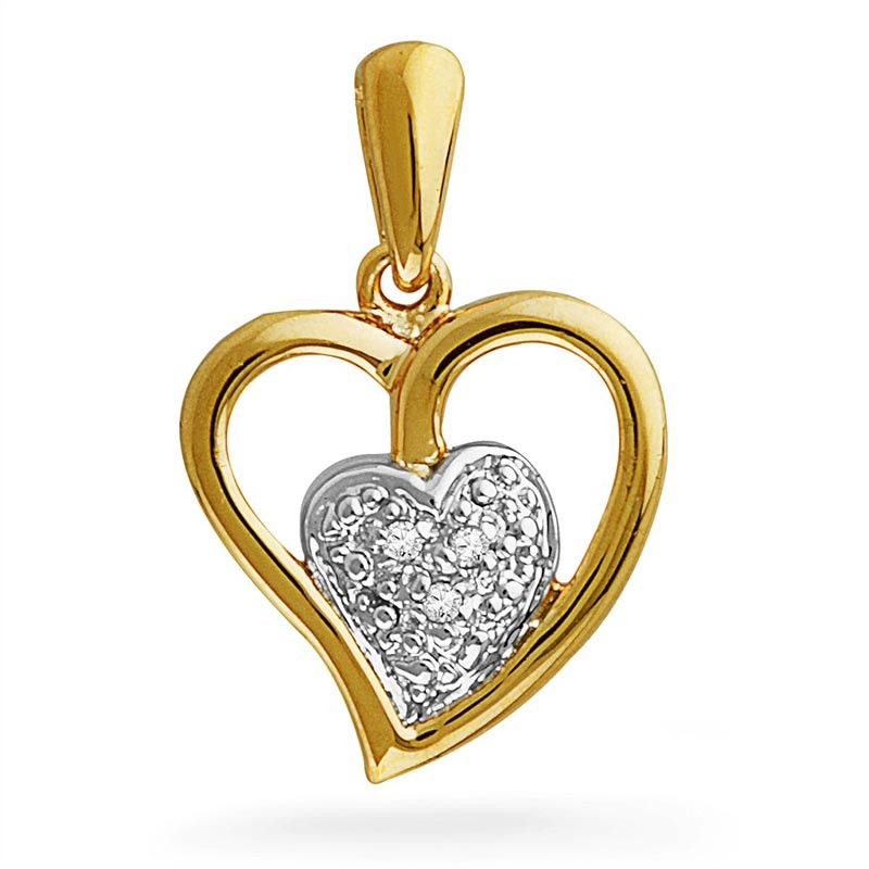 Heart_Diamond_Pendant_Valentine's Day Gift